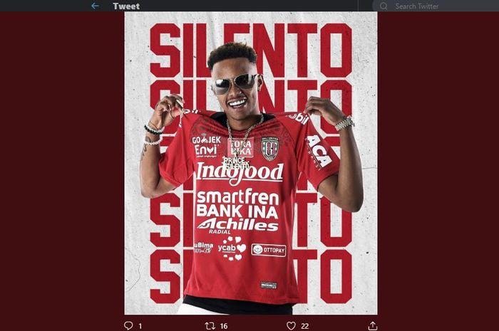 Rapper Amerika Serikat, Silento ditunjuk sebagai duta klub Bali United