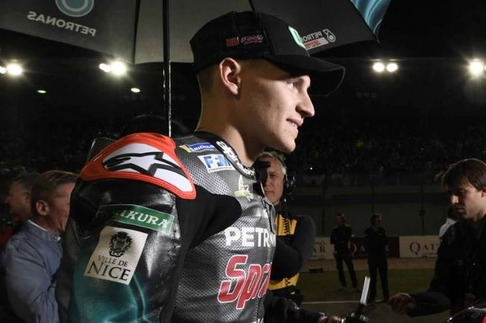Pembalap MotoGP, Fabio Quartararo jelang balapan di Sirkuit Losail Qatar (10/3/2019)
