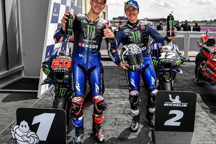 Yamaha senang sekaligus khawatir melihat performa Maverick Vinales dan Fabio Quartararo di MotoGP 2021