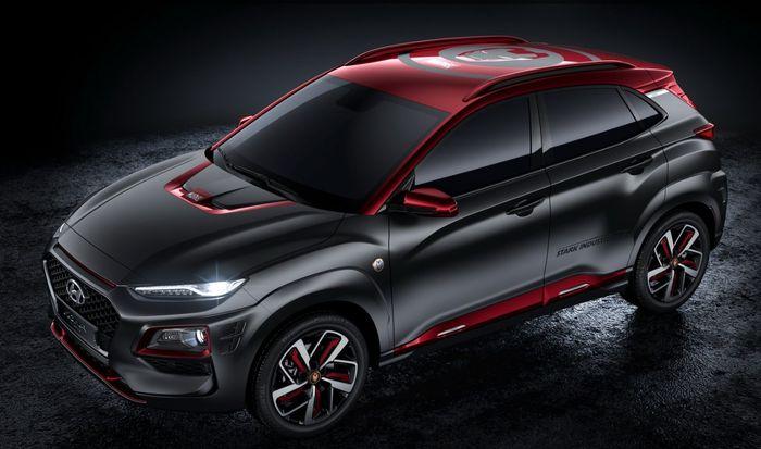 Menerapkan dual tone colour, Hyundai Kona Iron Man Edition memadukan abu-abu dan merah khas Iron Man