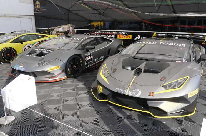 Semua mobil Lamborghini yang dipajang di sirkuit Vallelunga ini dilabel nomor 63