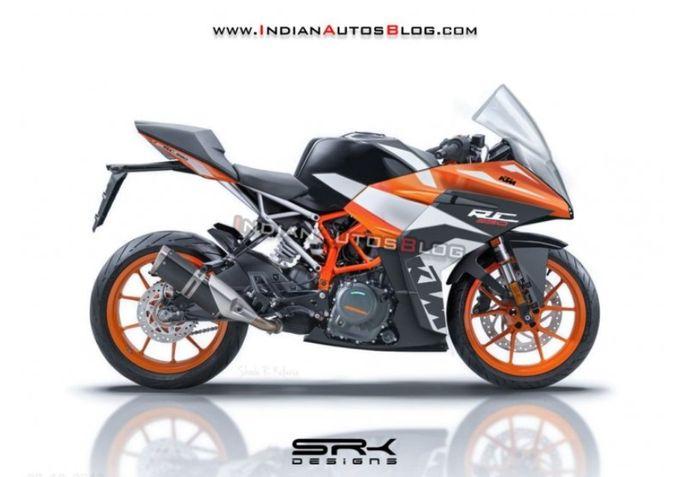 Renderan desain KTM RC 390 versi terbaru