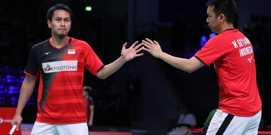 Mohammad Ahsan Beri Pengakuan Soal Nasib Miris Kue Kaleng Hadiah Denmark Open pada Sang Istri