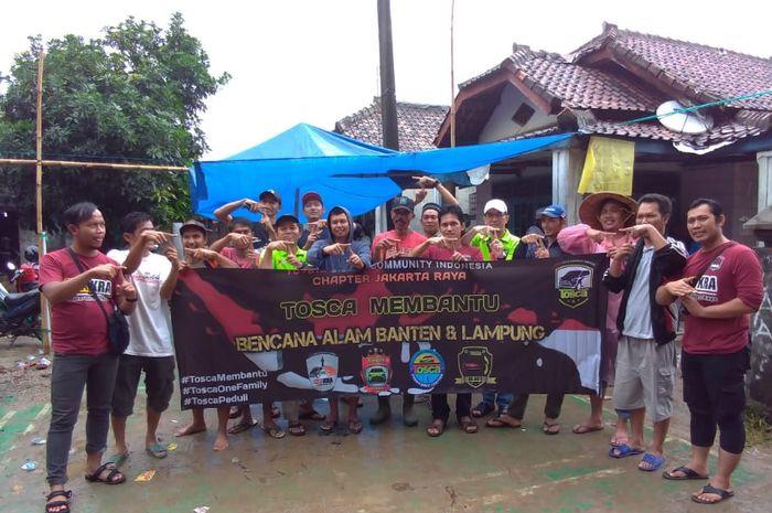 Toyota Sienta Community Indonesia (Tosca) turun langsung bantu korban tsunami Selat Sunda