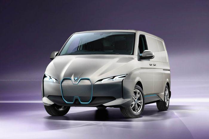 Modifikasi digital BMW  diubah menjadi MPV