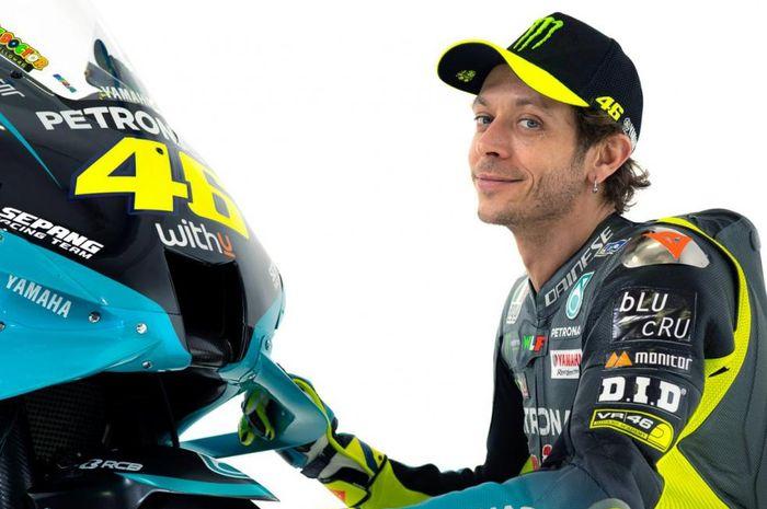 Pembalap dari tim Petronas Yamaha SRT untuk MotoGP 2021, Valentino Rossi.