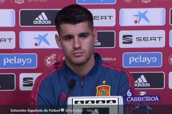 Penyerang timnas Spanyol dan Atletico Madrid, Alvaro Morata.
