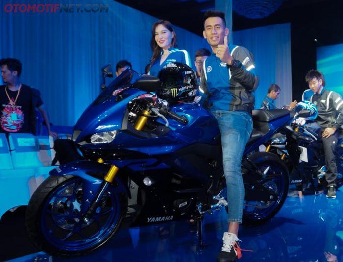 Hafizh Syahrin datang di launching Yamaha R25