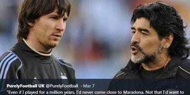 Tak Masuk Akal Sebut Messi Kalah dari Maradona Hanya karena Tak Pernah Juara Piala Dunia