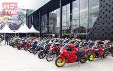 Mantap! Ribuan Bikers Kawasaki di Sumatera Ramaikan Pembukaan Greentech Plaza