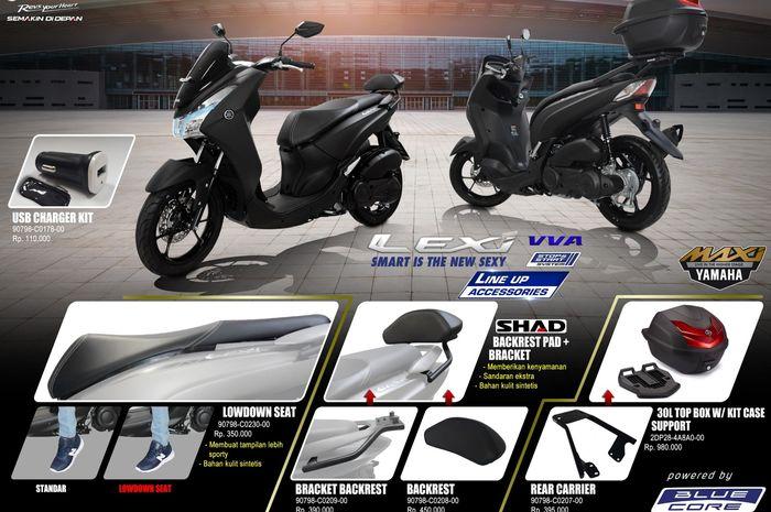 Daftar aksesoris resmi Yamaha Lexi