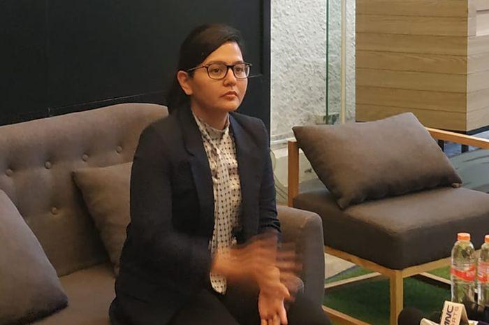Sekjen PSSI, Ratu Tisha Destria menjelaskan kunjungan FIFA ke Indonesia perihal pencalonan Indonesia untuk Piala Dunia U-20 2021, Minggu (22/9/2019).