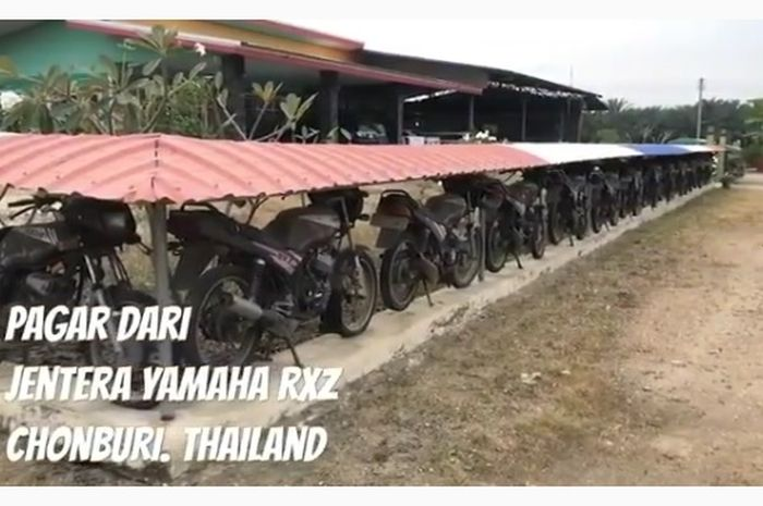 Cuplikan video saudagar asal Thailand yang bikin pagar dari Yamaha RX-Z