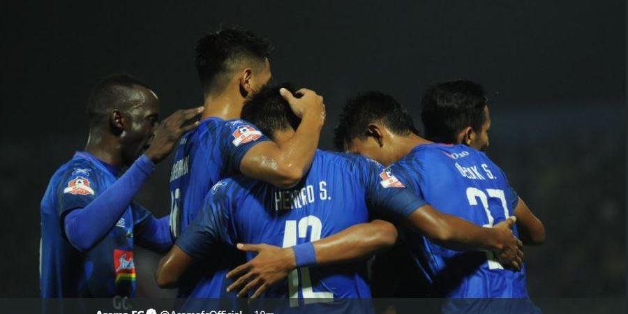 Comvalius Gagal Penalti, Arema FC Vs Borneo FC Imbang di Babak Pertama