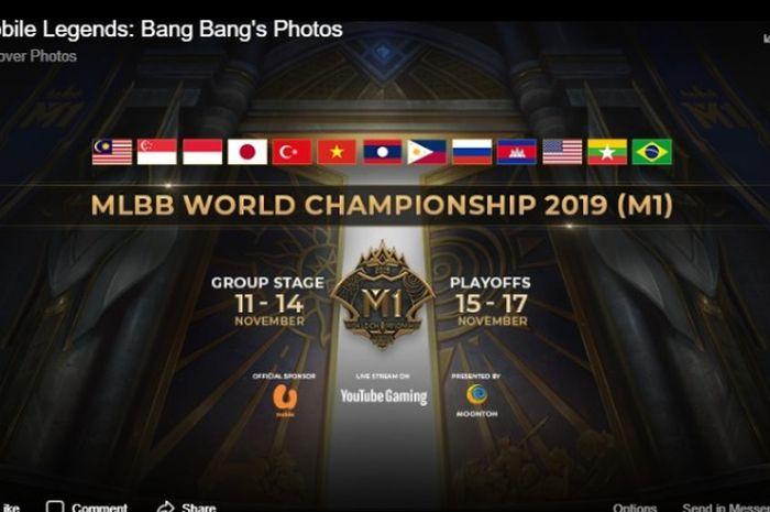 Kejuaraan Dunia gim Mobile Legends: Bang Bang pertama (M1) yang berlangsung di Kuala Lumpur, Malaysia, 11-17 November 2019