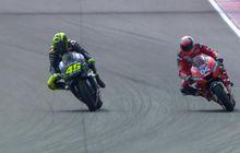 Valentino Rossi Jawab Tantangan Balapan Mobil dari Andrea Dovizioso