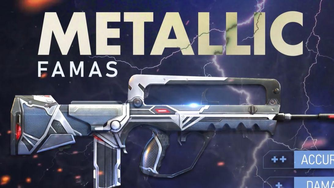 Dua Skin Senjata Free Fire Muncul Metallic Famas Dan Ak Flaming Red Semua Halaman Grid Games