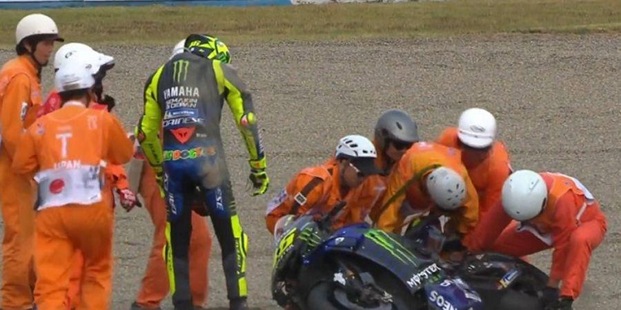 MotoGP Jepang 2019 - Video Insiden Crash Valentino Rossi hingga Gagal Finis