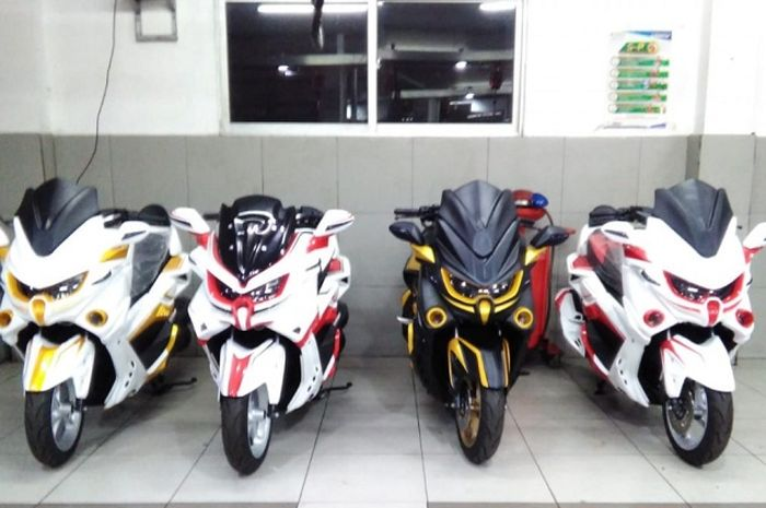 Yamaha NMAX Predator dan Transformer.