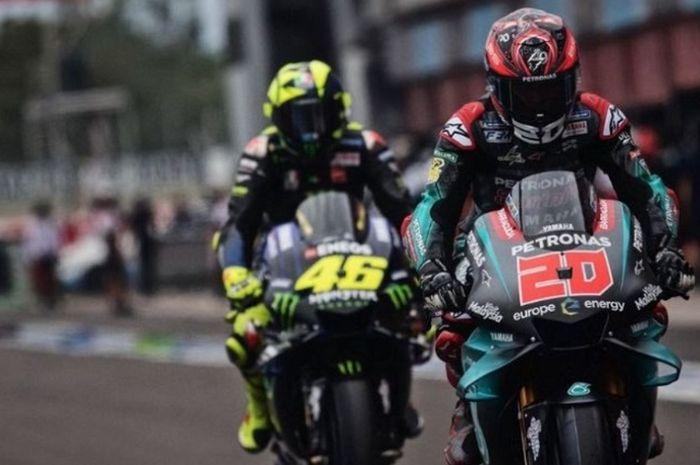 Saling jegal di sirkuit demi podium juara, jalan hidup Fabio Quartararo dan Valentino Rossi di balap ternyata sama.