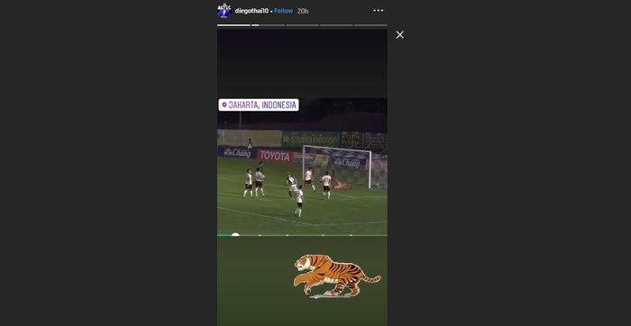 Unggahan striker asal Brasil, Diego Oliveira Silva di instagram pada Senin (19/2/2019)