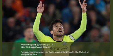Hasil Liga Inggris - Man City Pangkas Jarak dengan Liverpool Usai Tekuk Crystal Palace