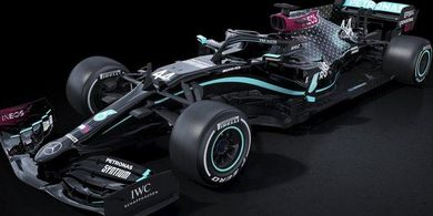 Tanggalkan Sejenak 'Silver Arrows', Mercedes Pakai Livery Warna Hitam pada F1 2020