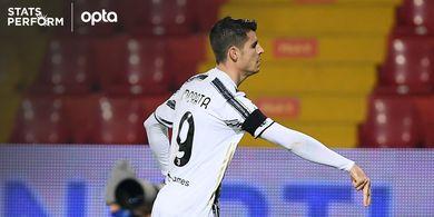 Morata Cetak Gol, Juventus Diimbangi Benevento Berkat Clearance Kurang Sempurna Eks Barcelona di Babak I