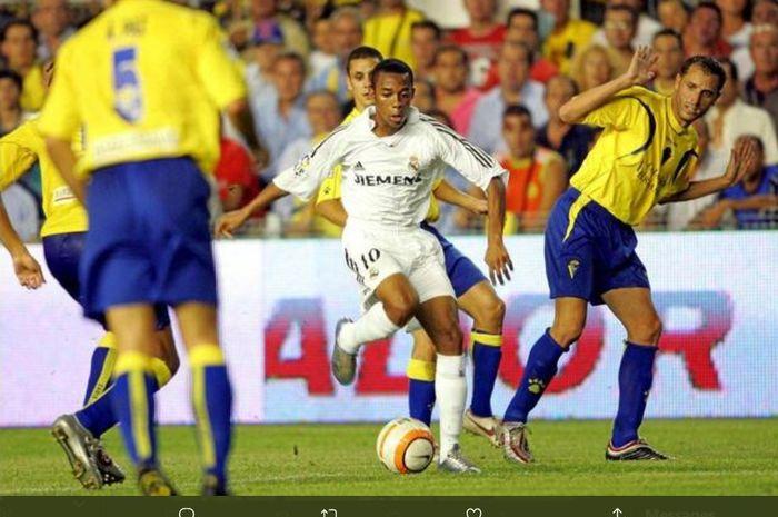 Robinho saat memperkuat Real Madrid.