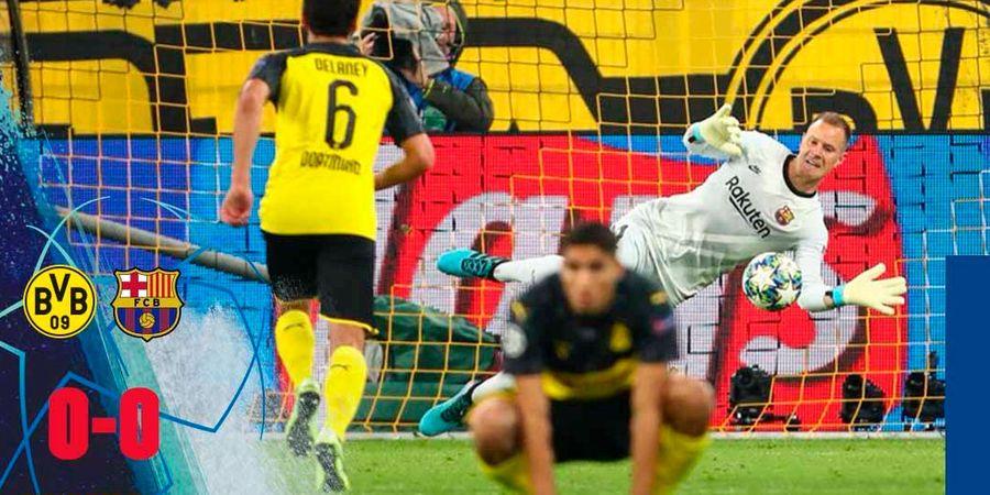 Ter Stegen Lakukan Penyelamatan Ilegal Saat Tepis Penalti Marco Reus