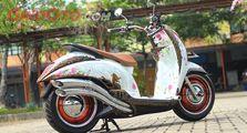Honda Scoopy Bobber, Nekat Pakai Pelek Mobil Jadi Berisi