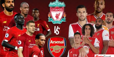 Prediksi Line-up Liverpool Vs Arsenal - Duel 2 Trio Maut