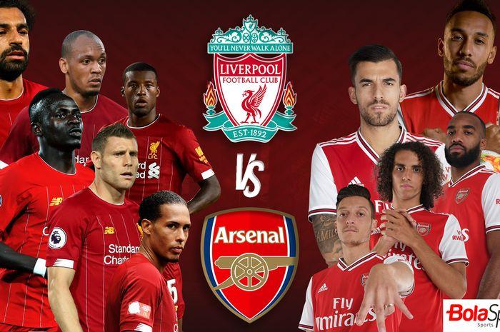 Ilustrasi Liverpool vs Arsenal.
