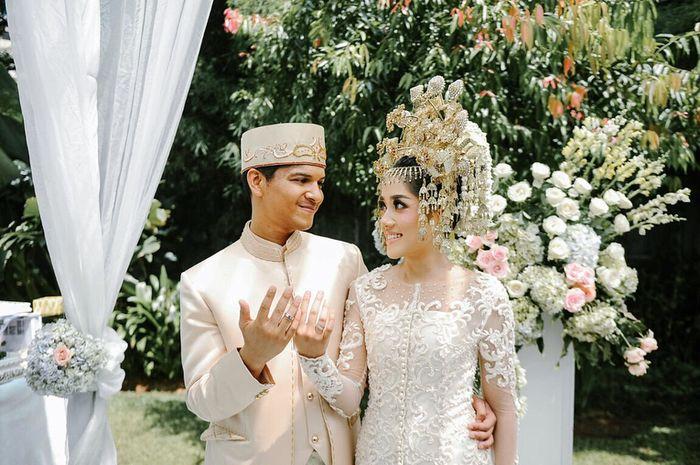 Yusuf dan Yofina setelah akad nikah