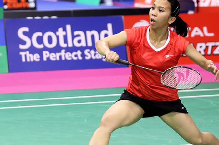 Lyanny Alessandra Mainaky saat tampil di ajang BWF World Championships di Glasgow, Skotlandia (22/8/