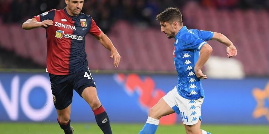 Hasil Liga Italia - Melawan 10 Pemain, Napoli Gagal Raih Tripoin