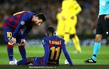Pemain Barcelona Kompak Pakai Jersey Terbalik untuk Ousmane Dembele