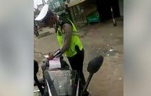Oknum Polisi Kehabisan Alasan, Pemotor Tanya Apa Salahnya, Nekat Marah