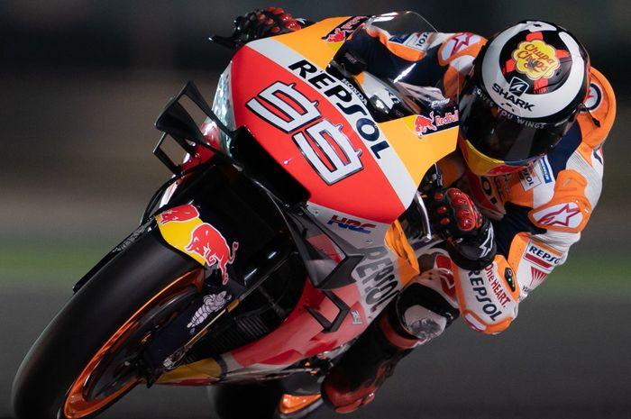 Jorge Lorenzo (Repsol Honda) menunjukkan peningkatan performa saat tampil pada hari terakhir tes pramusim MotoGP 2019, Senin (25/2/2019).