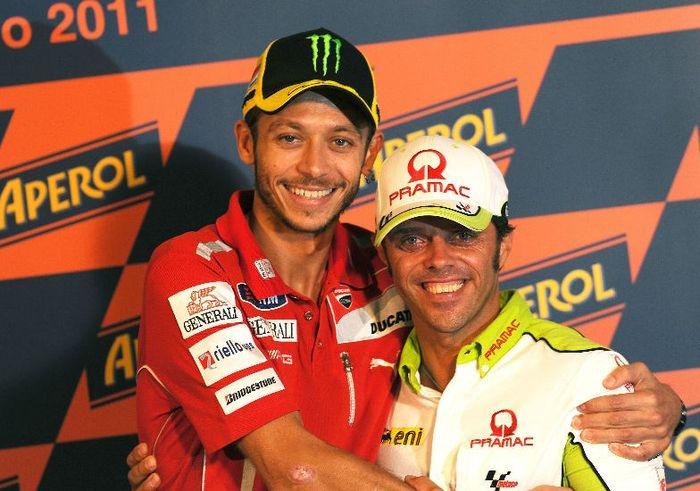 Valentino Rossi dan Loris Capirossi