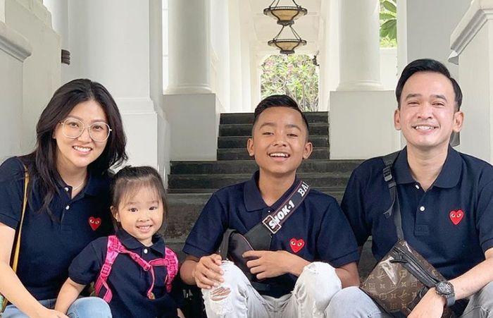 Betrand Peto dan keluarga Ruben Onsu