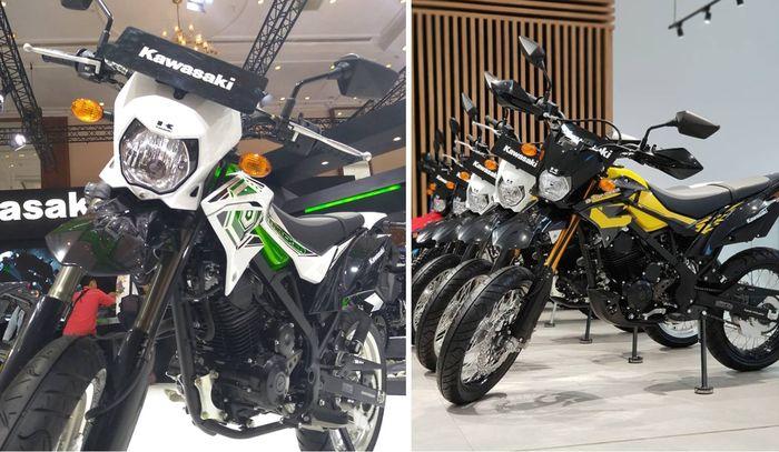 Kawasaki D-Tracker standar (kanan) tidak dibekali hand guard