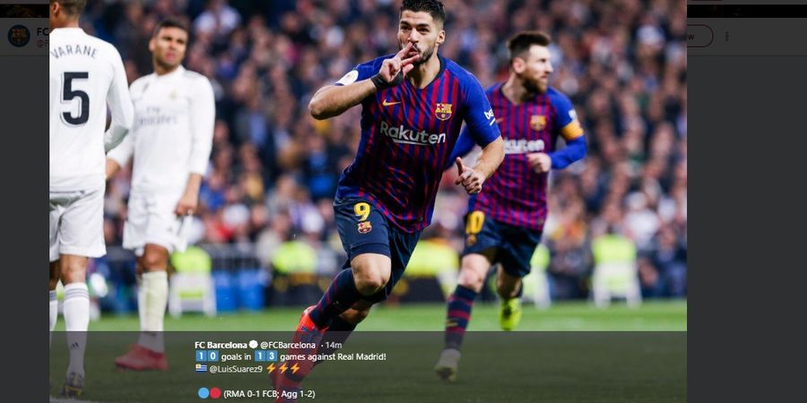 Rating Pemain Real Madrid Vs Barcelona - Suarez Jadi Man of The Match