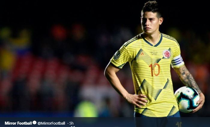 Gelandang timnas Kolombia, James Rodriguez, tampaknya bakal segera merapat ke Napoli.