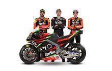Ada Sentuhan Bendera Italia, Begini Tampilan Aprilia Untuk MotoGP 2019