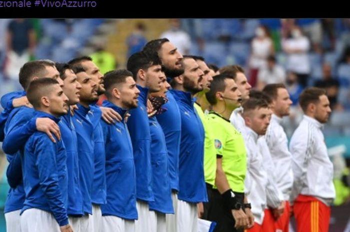 Timnas Italia berhasil membungkam timnas Wales dalam laga terakhir Grup A Euro 2020