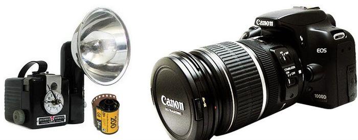 Kamera zaman old sudah ada yang kecil, tapi penggunannya super ribet dan terbatas kemampuannya.