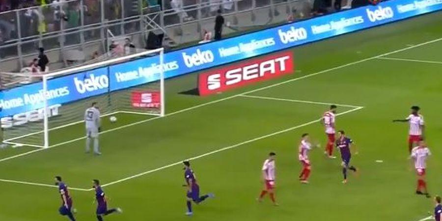 VIDEO - Lionel Messi Cetak Gol dengan Tendangan Keras Kaki Kanan, Kiper Lemas