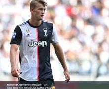 VIDEO - Matthijs De Ligt Berdarah-darah Saat Juventus Keok dari Olympique Lyonnais