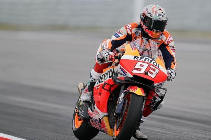 Marc Marquez di hari pertama MotoGP Catalunya